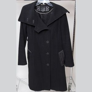 Mackage Wool and Cashmere Blend Pea Coat Large